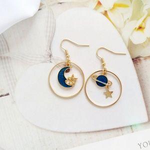 New planet hook earrings
